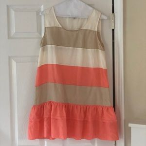 See by Chloe silk mini shift dress 42/6 peach